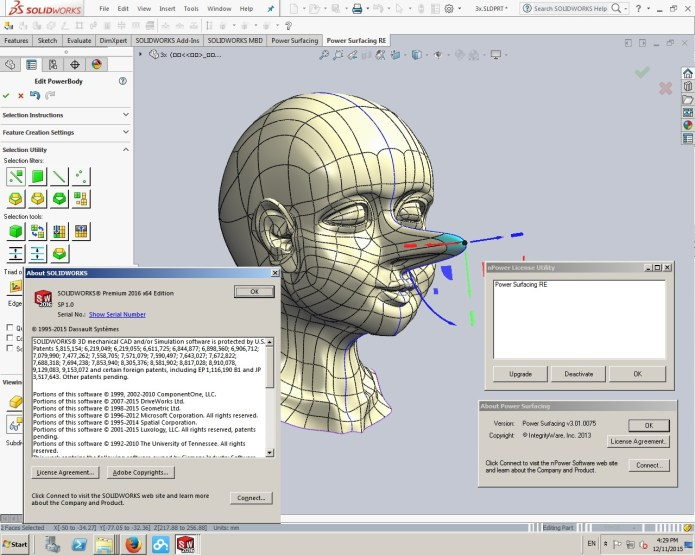 work with PowerSurfacing RE v2.2-3.1 for SolidWorks 2012-2017 64bit