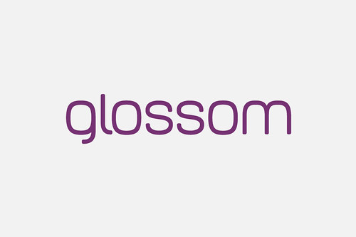 Glossom diseño de logo