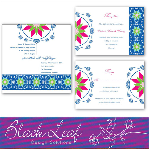 Indigo Wedding Card Set