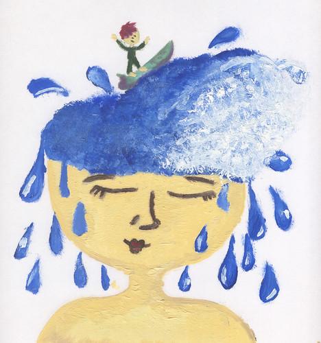 cabeza de agua by nubecina