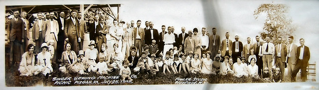 My grandfather is in the middle first standing row