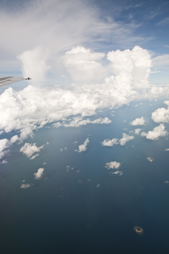 Flying over Sunda Straits