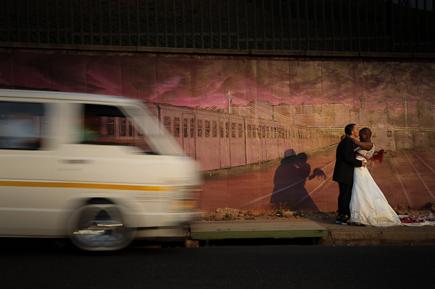couple shots in the streets of Johannesburg