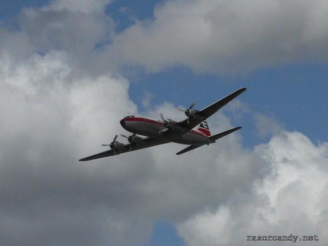 16 P1080599 British Eagle Douglas DC-6 {G-APSA} _ City Airport - 2008 (5th July)