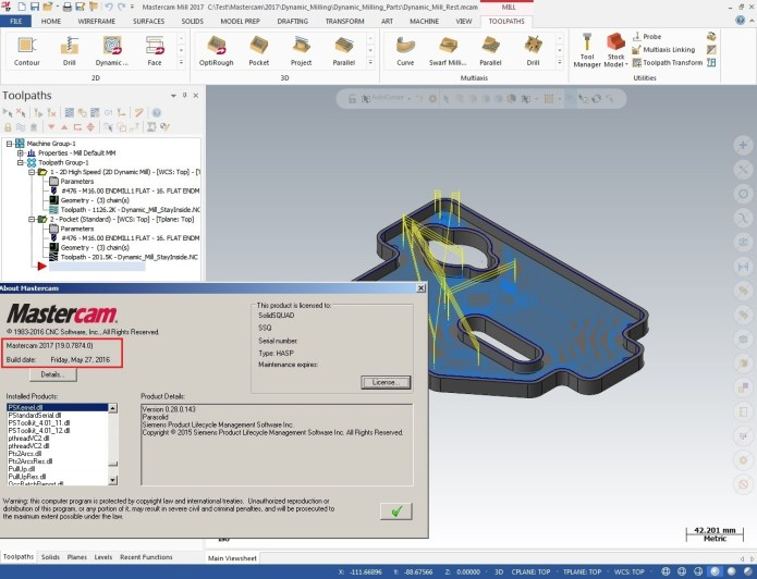 3D machining with mastercam 2017
