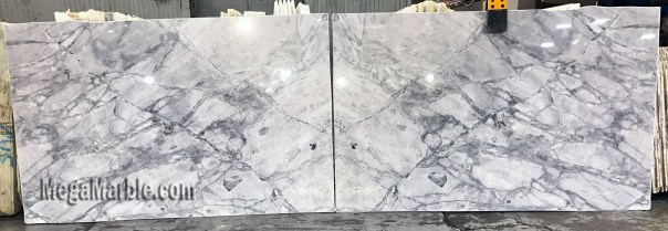 Super White Bookmatched Natural Stone Quartzite Slabs For Countertops