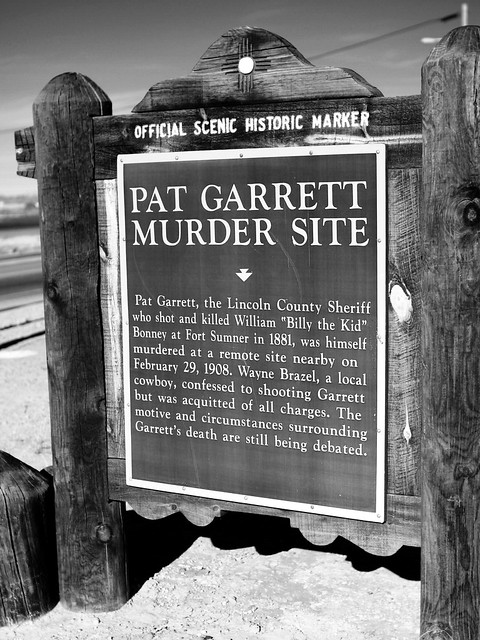New Mexico Official Scenic Historic Marker Pat Garrett Mu