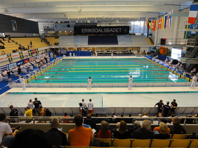 Eriksdalsbadet during the 2010 World Cup leg in Stockholm