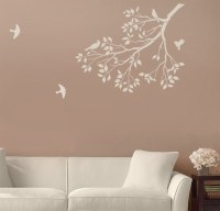 Reusable Wall Stencils. Spring Songbirds on a Tree Branch ...