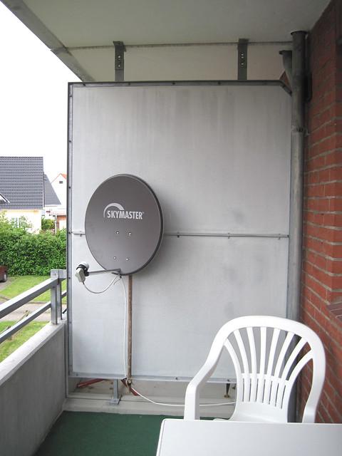Satellite dish on my balcony  Flickr  Photo Sharing