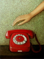 the unexpected call (the red phone)