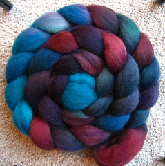 Bluefaced Leiceter roving from FreckleFace Fibers