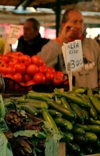 Vegetable market in Milan, Italy