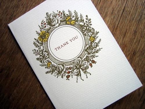 Monogram printable wedding thank you