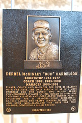 Bud Harrelson Hall of Fame Plaque