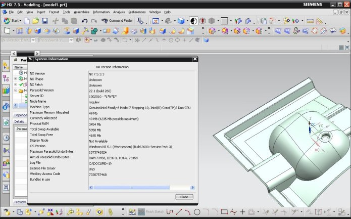 Designing with SIEMENS PLM NX 7.5 full crack
