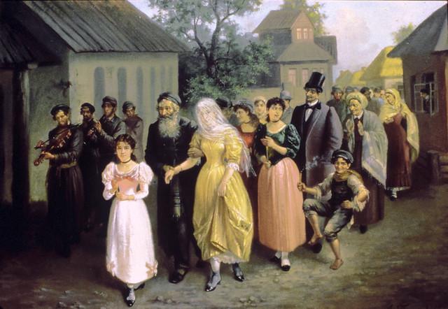 Painting 7519 Jewish Wedding by A Trankowski