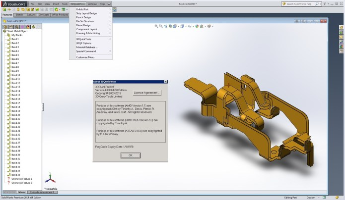 Design with 3DQuickPress v6.0.0 for SolidWorks 2011-2016 full