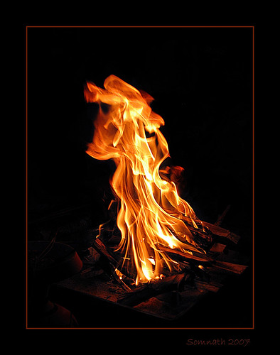 Fire - 1 by Somnath Mukherjee Photoghaphy