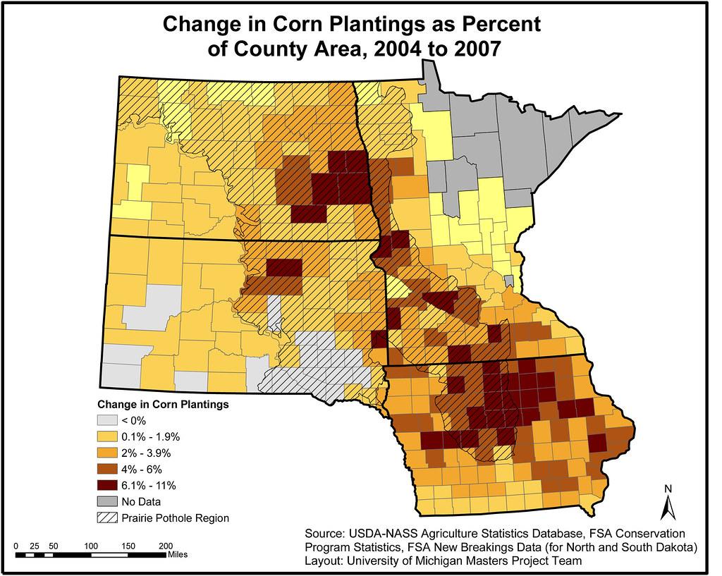 Change in Corn Plantings