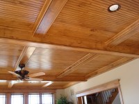Beadboard Ceiling with Beams | Flickr - Photo Sharing!