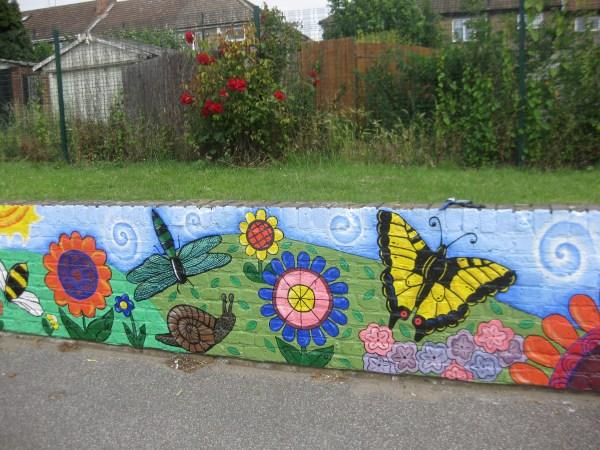 Nightingale Primary School Minibeast Playground Mural