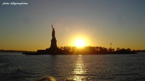 Statue of Liberty Sunset by billypoonphotos