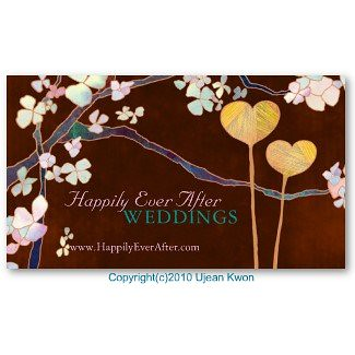 Elegant Two Hearts: Wedding Planner Business Cards