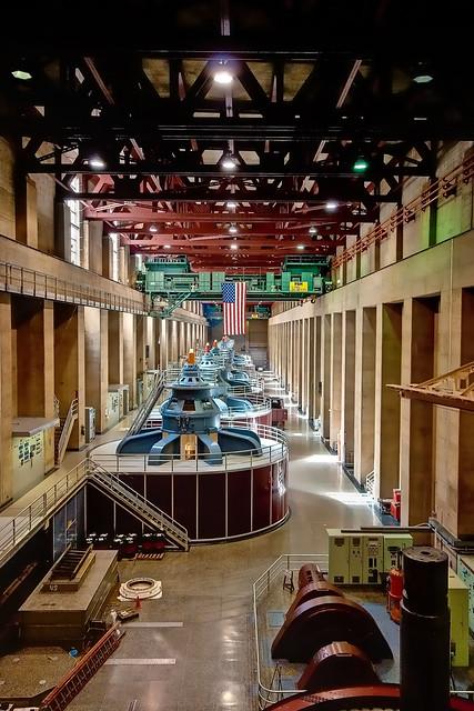 Hoover Dams Hydroelectric Turbine Generator Room