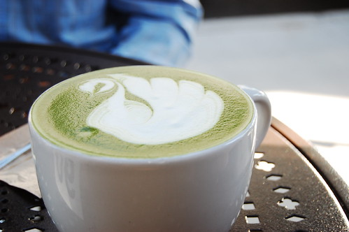 Urth Caffé: Green tea latte
