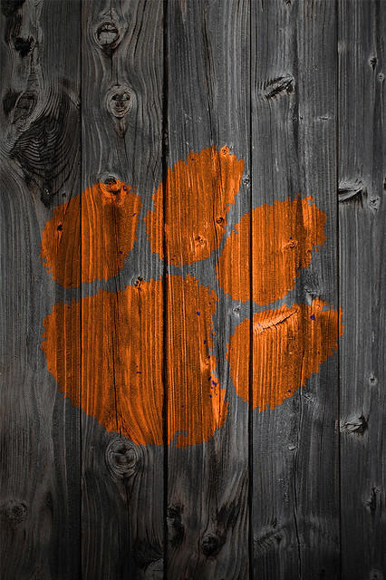 Clemson Tigers Iphone Wallpaper Clemson Tigers Wood Iphone 4 Background Flickr Photo