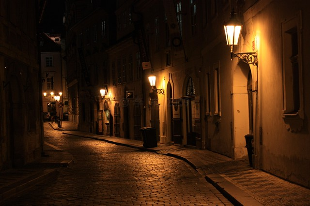 Prague at night, Prag, Praha, Czech Republic