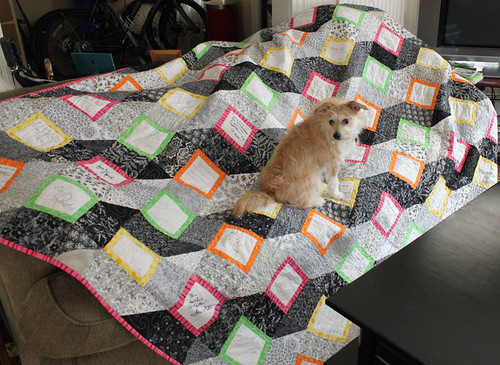 Neville with wedding quilt