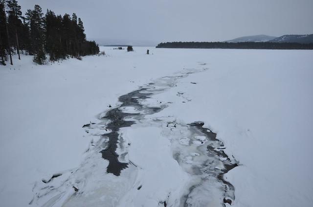 Swedish ice river