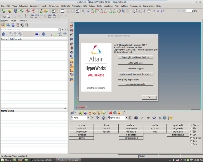 Working with Altair HyperWorks 2017.0.0.24 Suite Linux64