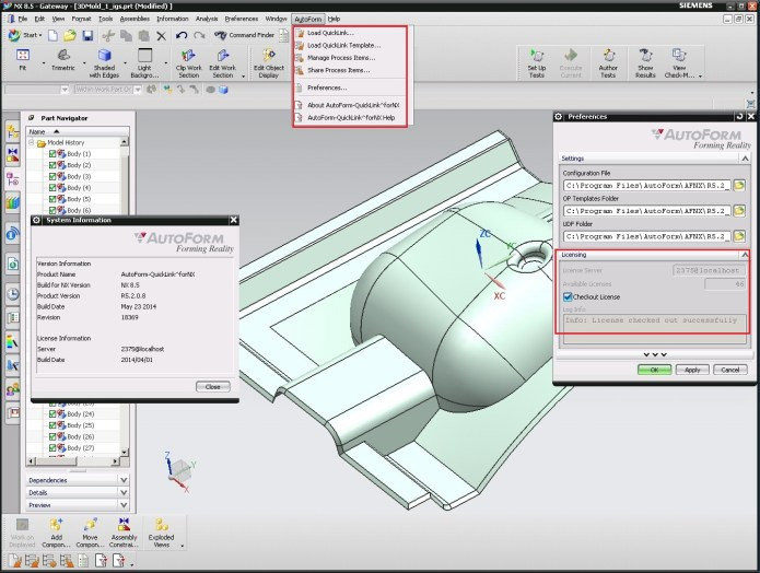 Working with AutoForm^Plus R5.2.0.11 in NX full