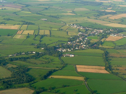 Burgh-by-Sands from the air