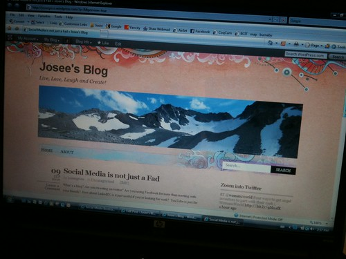 First ever blog post for Josée Grice