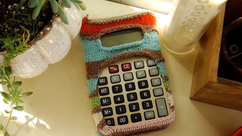 calculator koozie