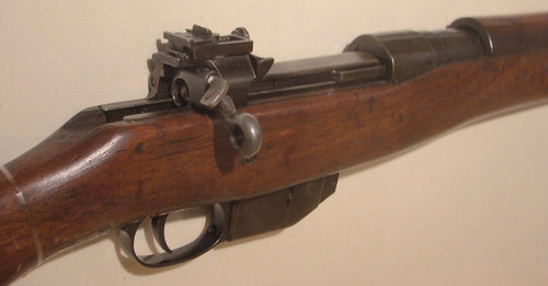Controversial Canadian World War One Ross Rifle detail of action by gnawledge wurker