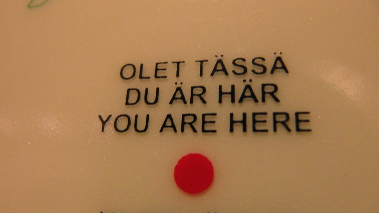You are here (in Finland)
