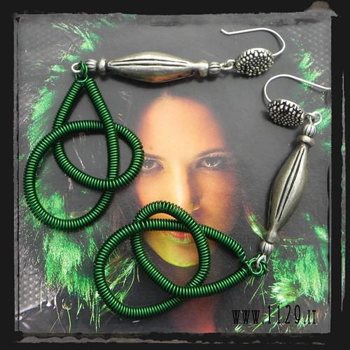 LLWIVE orecchini verdi green wired earrings 1129