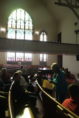 Tour group at Sharp Street Memorial United Methodist Church, Etting Street