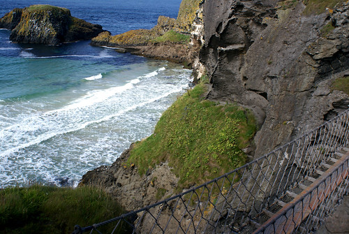 Rope Bridge and Blue/Green Sea by little_frank