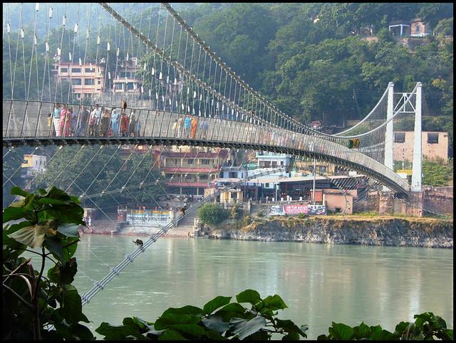 Ram Jhula bridge perspective  Flickr  Photo Sharing