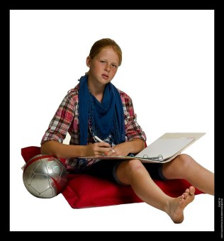 Young student with workbook