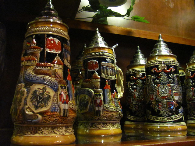 Beer Steins in Weinkeller at the Germany Pavilion at Epcot