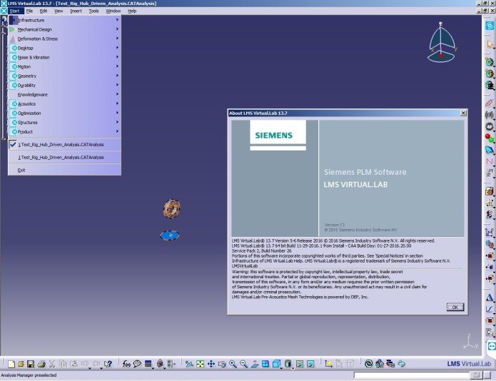 Working with Siemens LMS Virtual.Lab Rev 13.7 64bit full