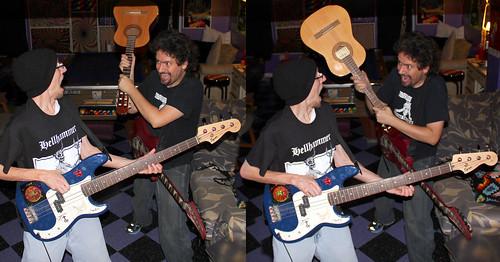 20100930 - Carnival Machine Armada - John, Clint - (by Carolyn) - IMG_0802-diptych-IMG_0803
