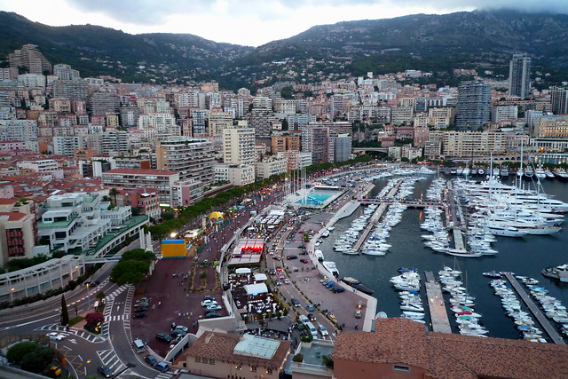 Port Hercule and Monaco Grand Prix track
